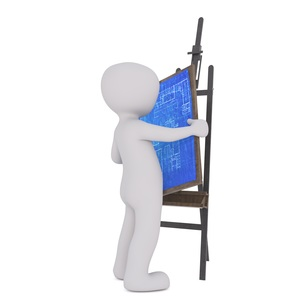 business man, consultant, coach, architect, blue print, business model, easel