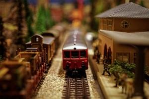 model train at station, business models