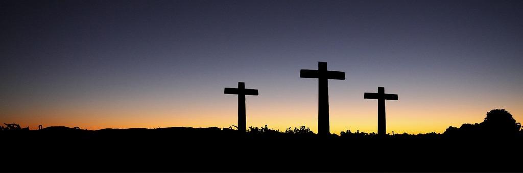sunset three crosses
